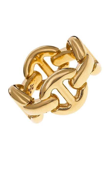 Hoorsenbuhs 18K Gold Quad Link Ring