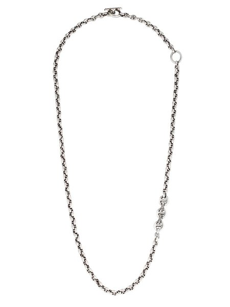 Hoorsenbuhs 5mm Sterling Silver Tri-Link Necklace with Diamonds