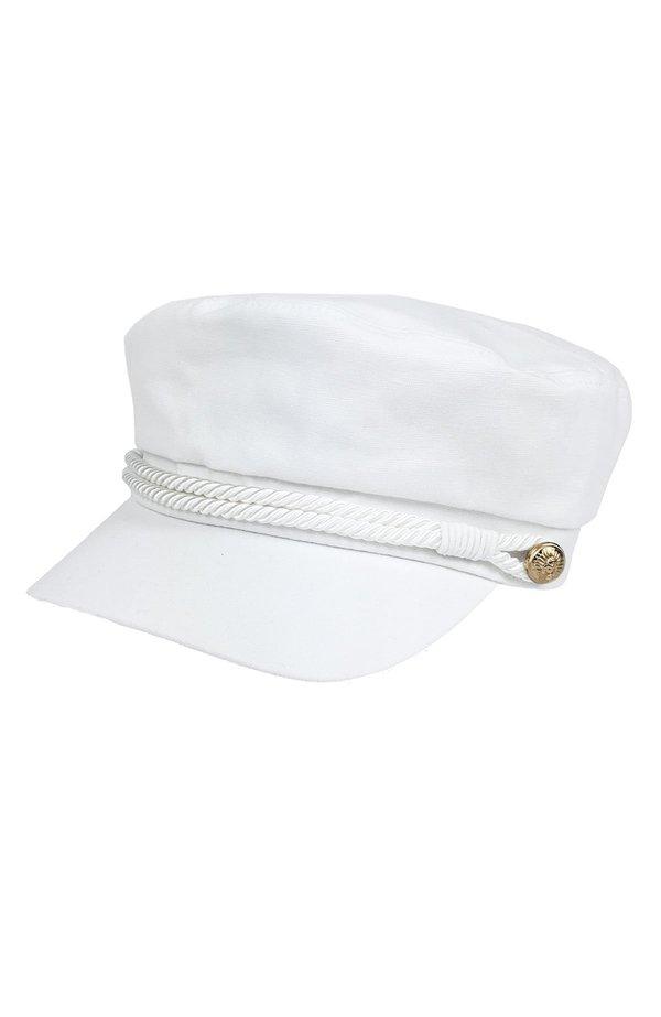 439bc103af4 Hat Attack Emmy Newsboy Cap - WHITE