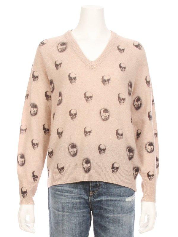 82e08d5c9b 360 Cashmere Riley V-Neck Skull Cashmere Sweater