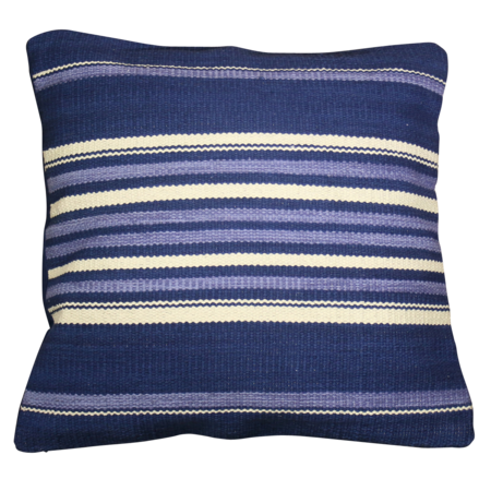 India Flag Cushion Cover - Navy Blue Stripe
