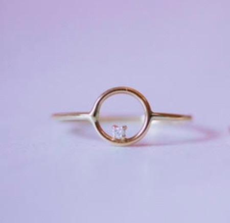 GJenmi Full Moon Ring - 14k Gold