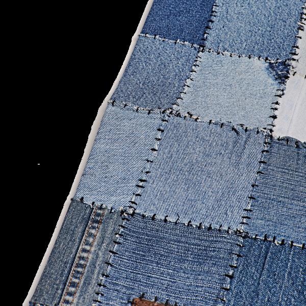 Denim Patchwork Rug, Blue