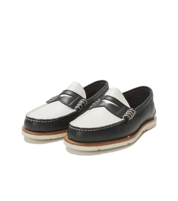 55223c5905 FSC x RANCOURT BEEFROLL PENNY LOAFER - BLACK WHITE