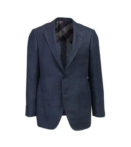 Freemans Sporting Club Rivington Sportcoat - Navy Linen