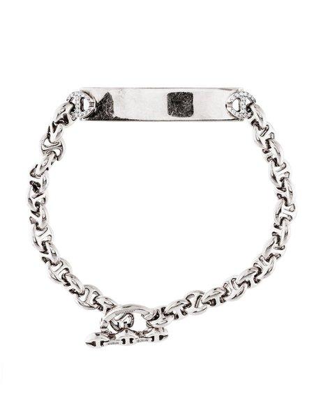 Hoorsenbuhs Sterling Silver ID Bracelet with White Diamonds