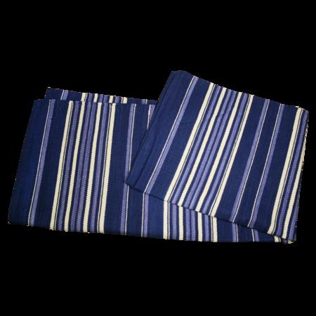 India Flag Native Rug - Navy Blue Stripe