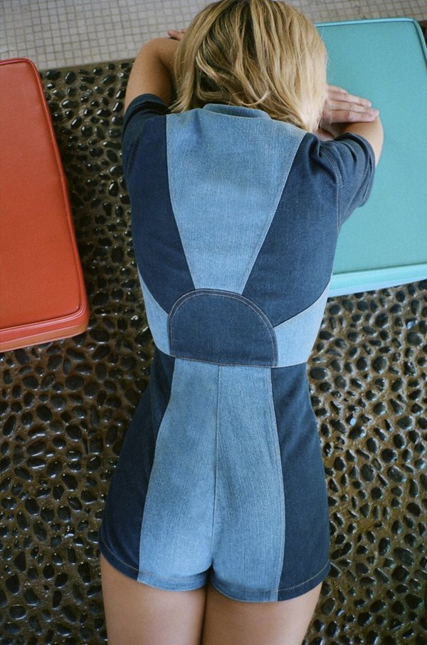 876212f774f8 Stoned Immaculate Blue Jean Baby Girl Romper - Laurel Canyon. sold out. Stoned  Immaculate