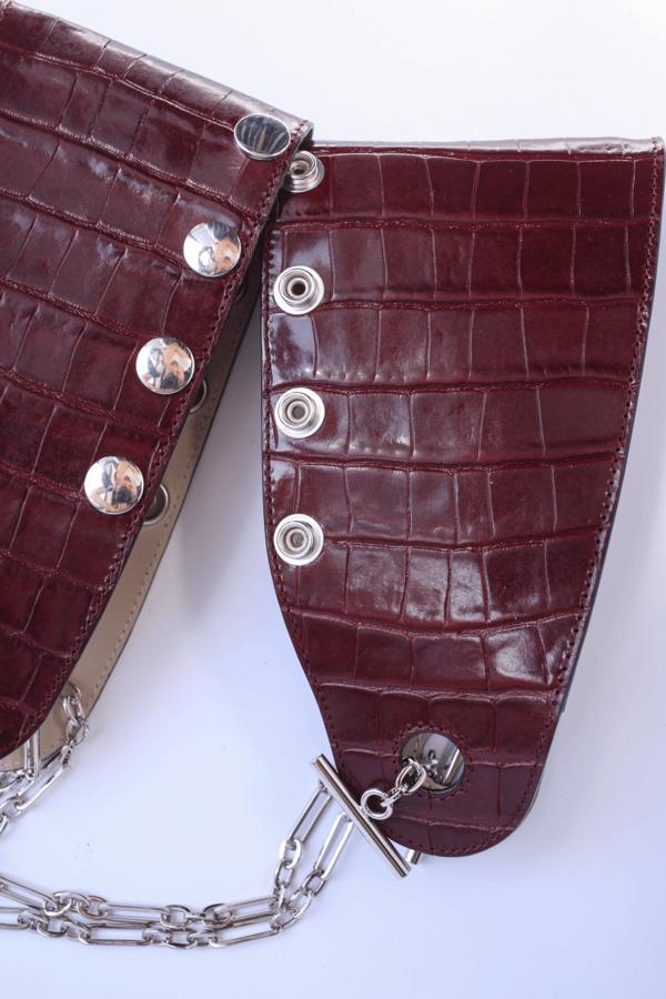 3384265687d Mini Double Folded Bag, Grape on Garmentory
