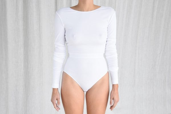 3bfb059cc9 La Fille D o Mission Bodysuit - Optical White