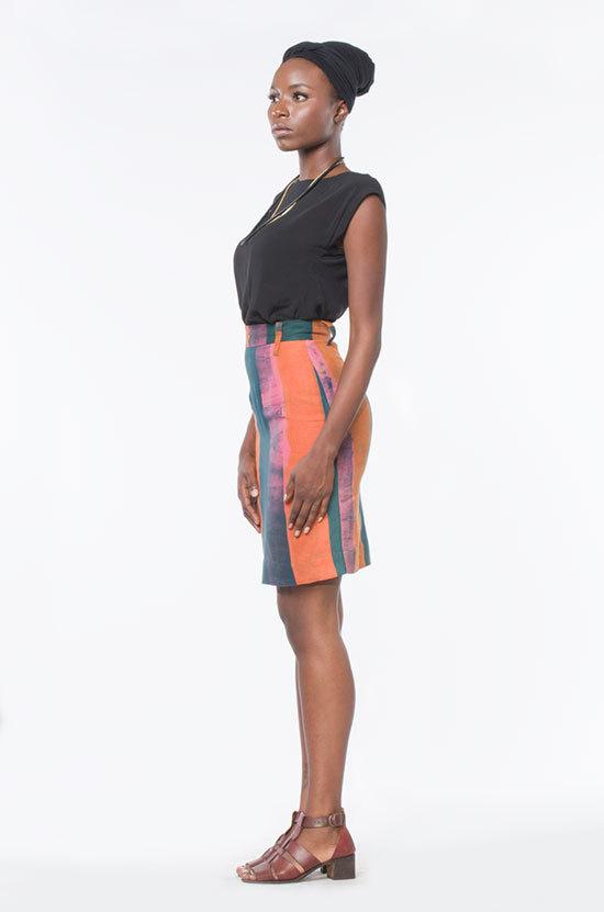 Osei-Duro Graphis Skirt in Tobacco