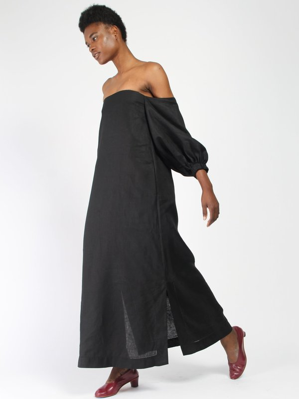 407ab92b55 Lisa Marie Fernandez Rosie Linen Bubble Sleeve Dress - Black. sold out. Lisa  Marie Fernandez