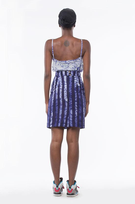 Osei-Duro Graphis Skirt in Navy Stripe