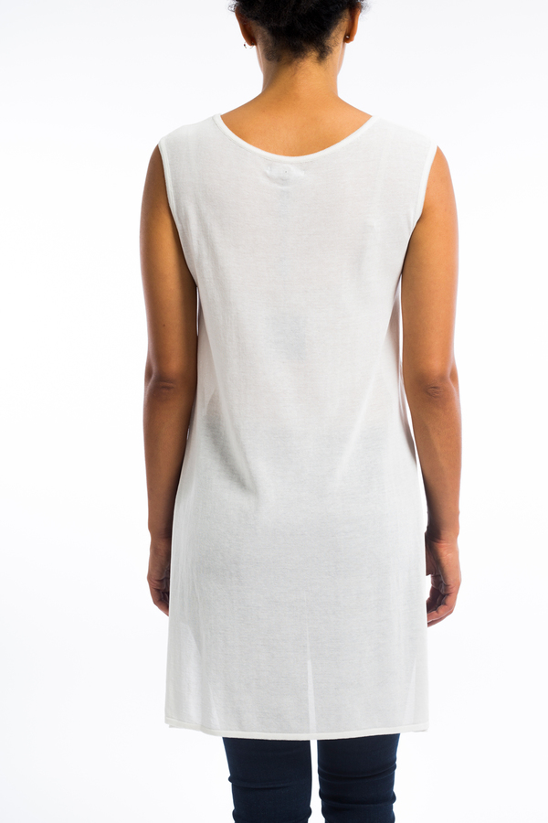 620faafc9a Sarah Pacini sleeveless cotton tunic top- white.  448.00. Sarah Pacini