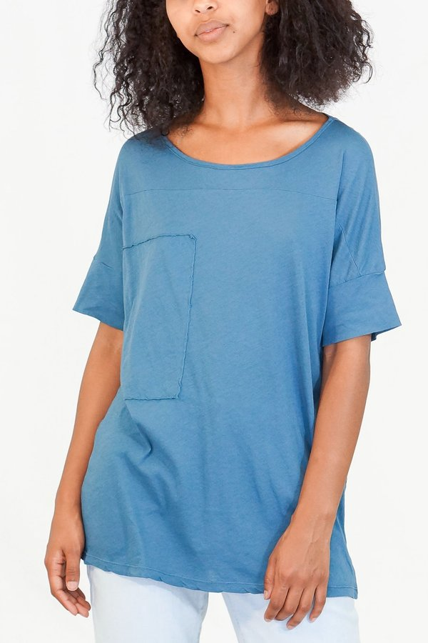 6a0cbf1c036 Humanoid Jenna Short Sleeve Jersey Tee - Petrol | Garmentory