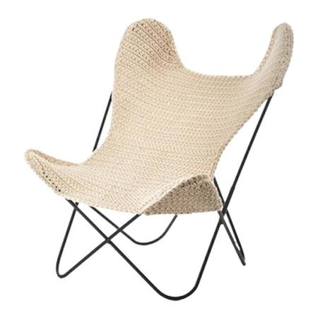 KIDS Anne-Claire Petit Crochet Childrens Butterfly Chair - Natural Cream