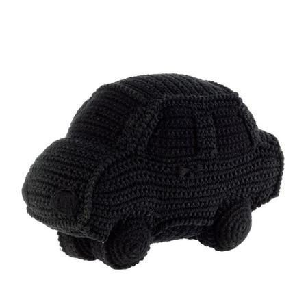 KIDS Anne-Claire Petit Handmade Crochet Car with Bell Inside - Black
