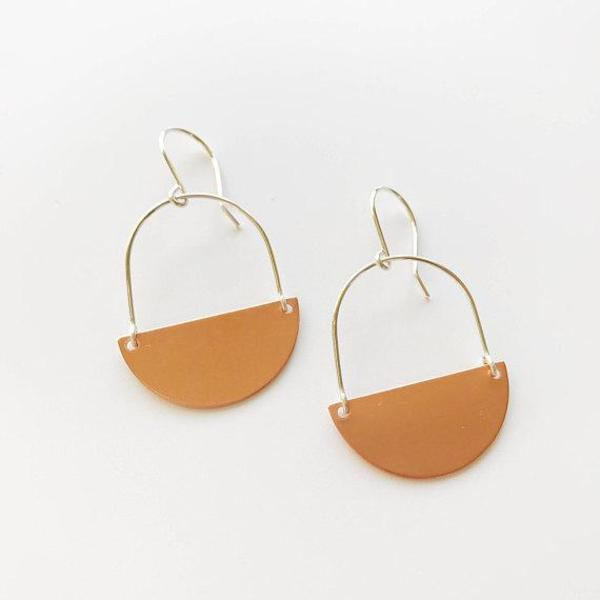 Pegs Hardware Earrings - Copper Orme