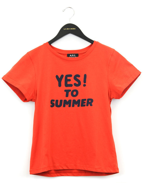 ff9f57f22469 A.P.C. Yes To Summer T-shirt - Orange