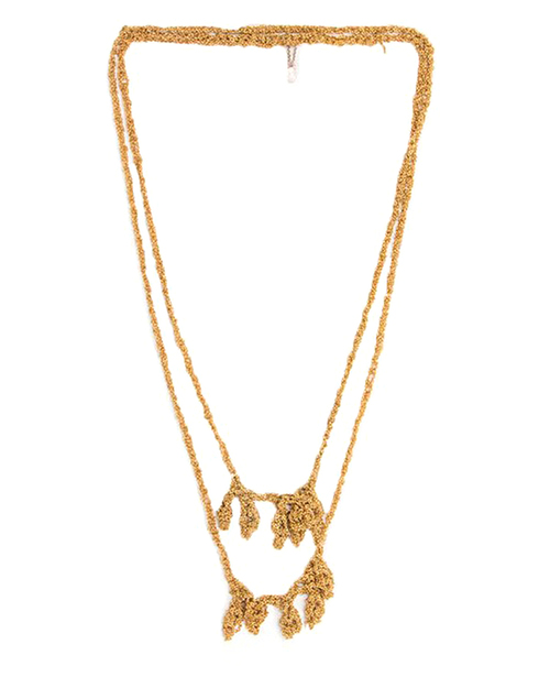 Arielle De Pinto Laurel Simple Necklace in Gold