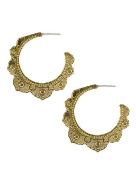 Lulu Designs Tantra Large Earring - Yellow Bronze