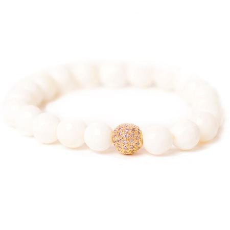 TAI Shell Bracelet - White