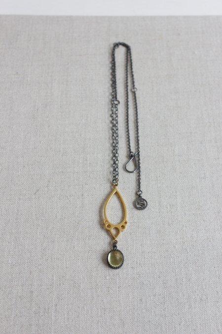 SYMBIOTIQUE Precious Necklace - Lime Quartz