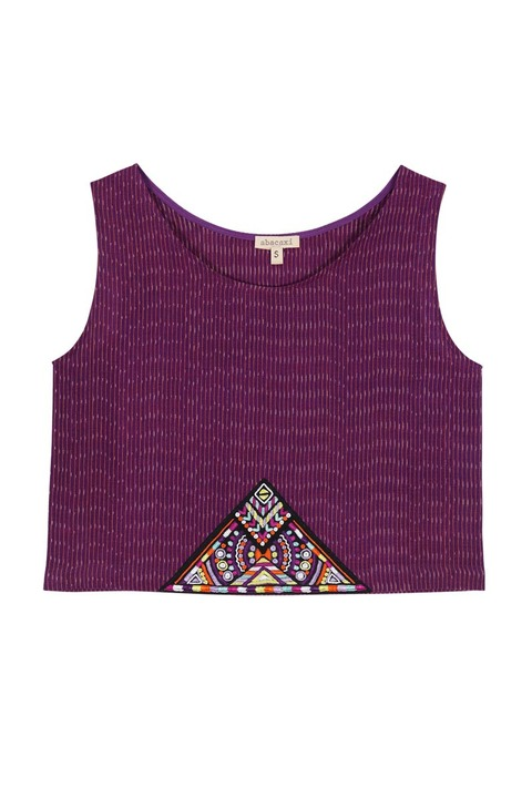 Abacaxi Embroidery Crop Top