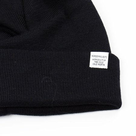 Norse Projects Top Beanie - Black