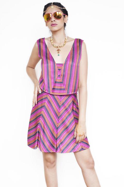 Abacaxi Handloom Stripe Skirt