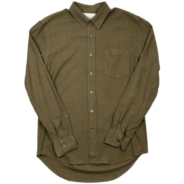 2e2d0e7ee4c9f Our Legacy - Classic Shirt - Dark Olive Silk Noil