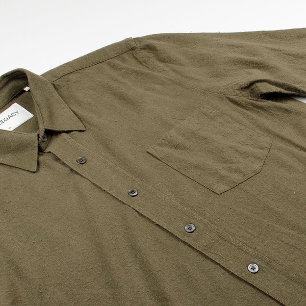 a103bc9119f44 Our Legacy - Classic Shirt - Dark Olive Silk Noil. sold out