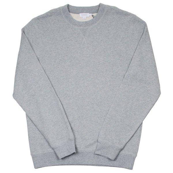 Sunspel Loopback Sweatshirt - Grey Melange