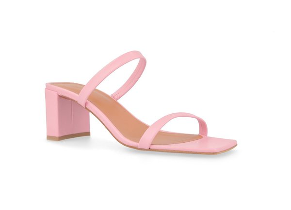 By Far Shoes Tanya Sandals - Pink Leather