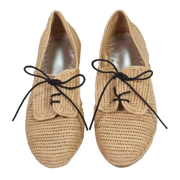 big sale 576fa 4908c Polder Derbies Raffia Shoes - Natural on Garmentory