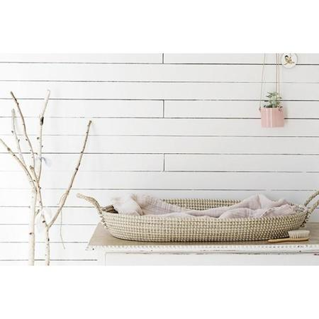Kids Shop Merci Milo Reva Diaper Changing Mat Basket with Cotton Insert