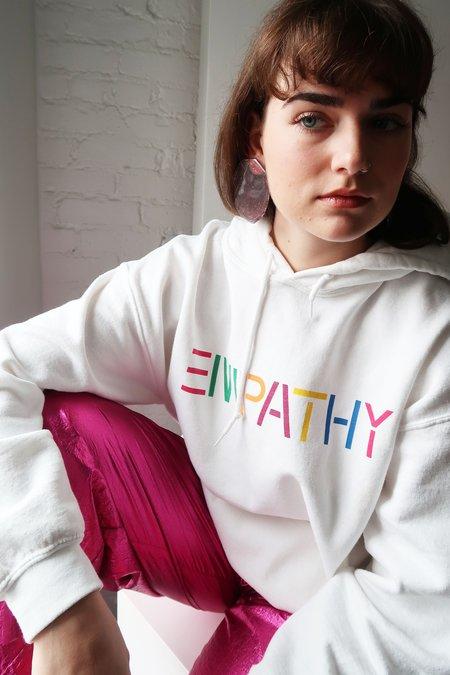 UNISEX Bangsy Empathy Hoodie - WHITE