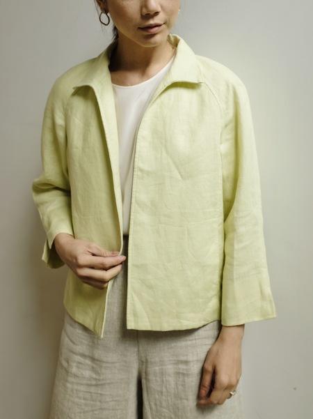 Hey Jude Vintage Pistachio Linen Jacket