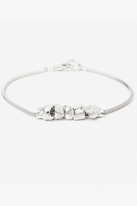 Signed Silver Pearl Bracelet