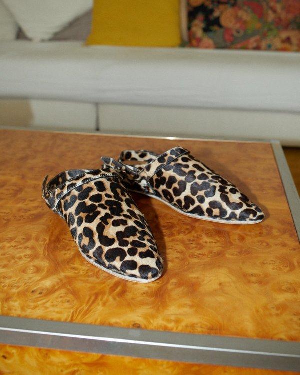 Nanushka SAO Babouche with sling back - Leopard pattern
