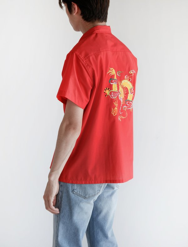 9d2865aac2c9 Bode Kimono Dragon Shirt - Red | Garmentory