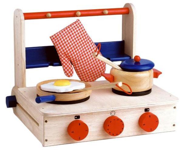 Kids Shop Merci Milo Portable Wooden Kitchen Set on Garmentory