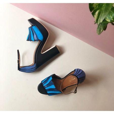 Malone Souliers Lillian Platform Sandals - Blue/Black