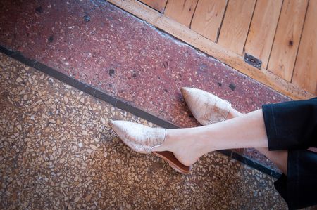 Malone Souliers Marianne Cork Backless Loafers