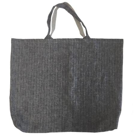 Atsuyo et Akiko Small Linen Je T'aime Bag - Stripe