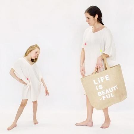 Atsuyo et Akiko Cotton Gauze Terre Earth Dress - Ivory