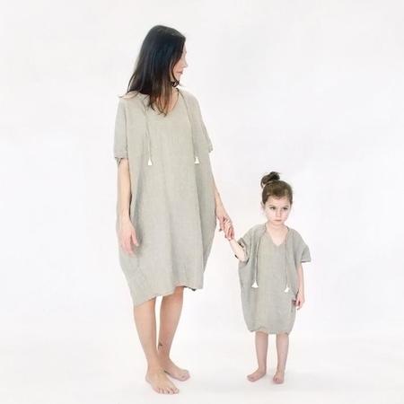 Atsuyo et Akiko Linen Terre Earth Dress - Natural Coconut