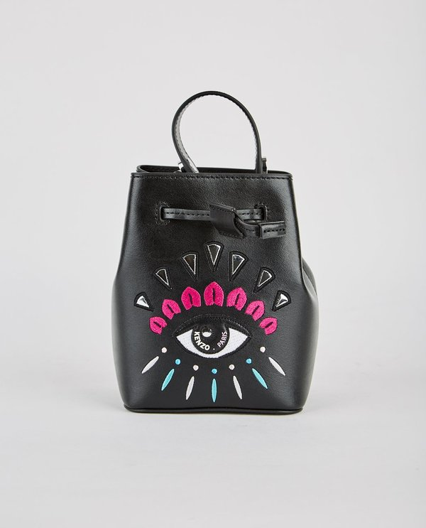bb95846abf Kenzo Cory Mini Embroidered Eye Bucket Bag - Black | Garmentory