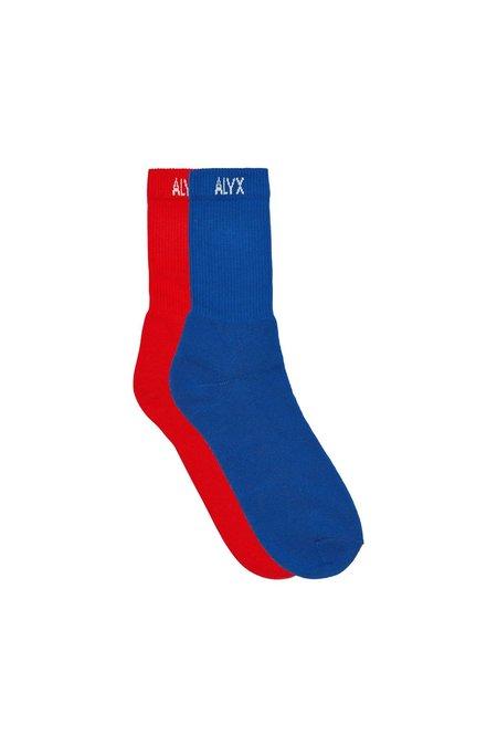 Alyx World Peace Sock - BLUE/RED