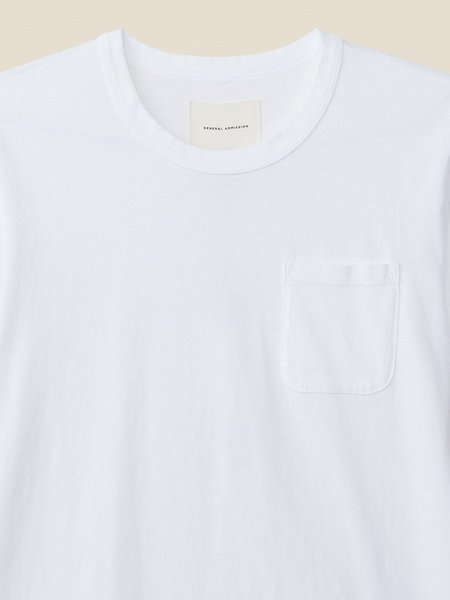 General Admission California Pocket Tee - White